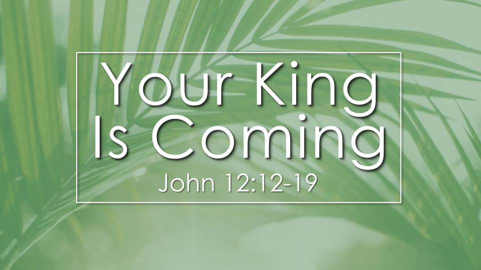 Your King is Coming Sermon from our Passion Week Sermon Series. John 12:12-19